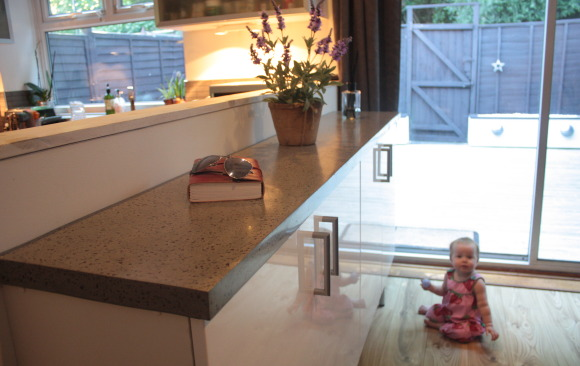 Concrete Topped Sideboard
