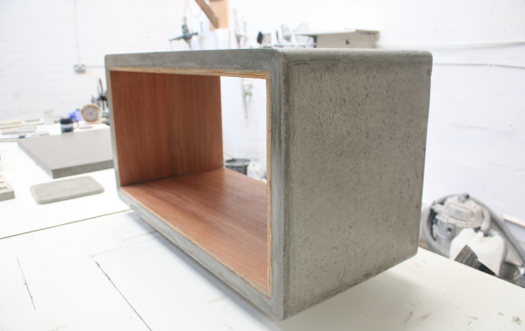 Polished Concrete Log Holder