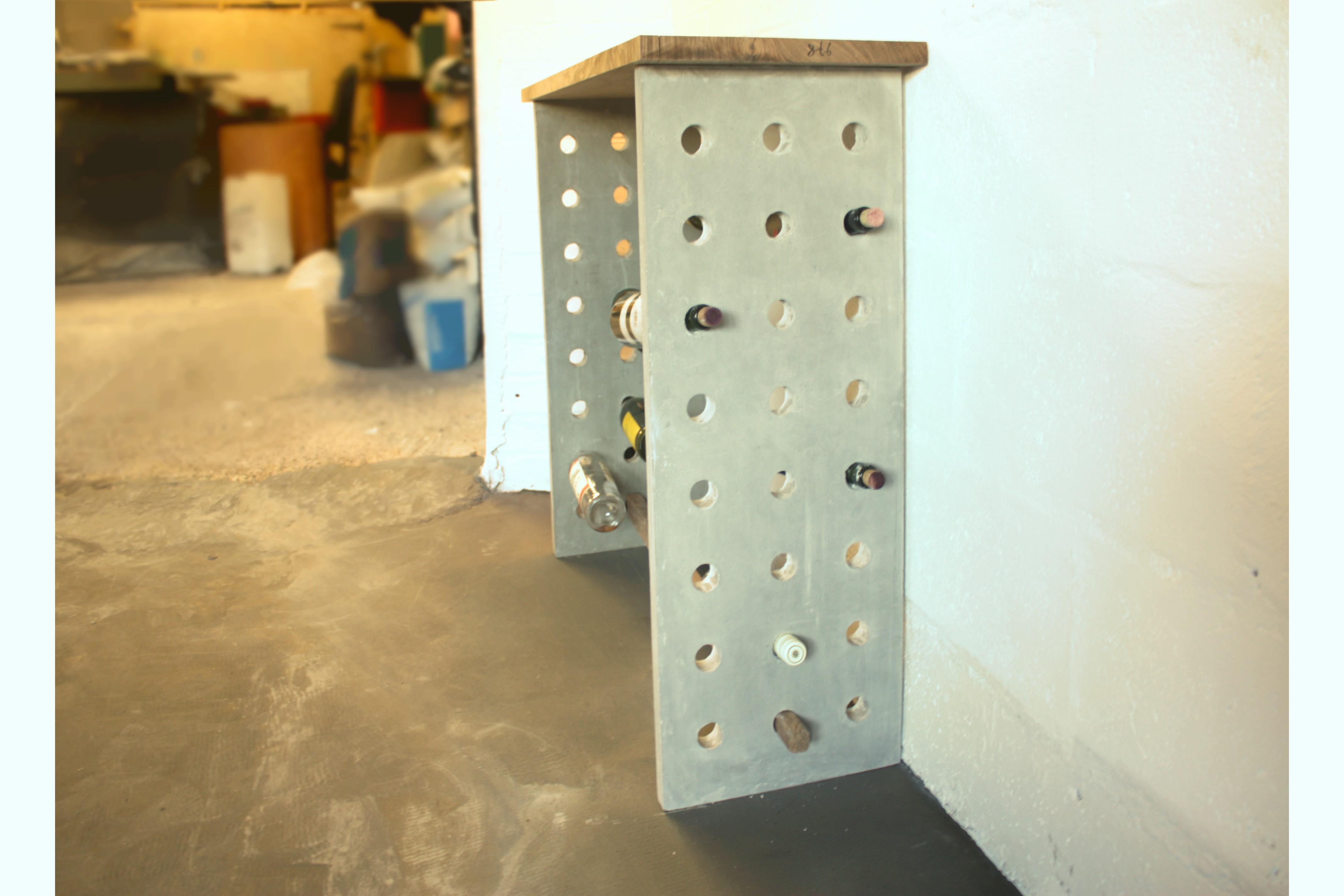 wine rack console table. Our Concrete Console Table With Wine Rack N