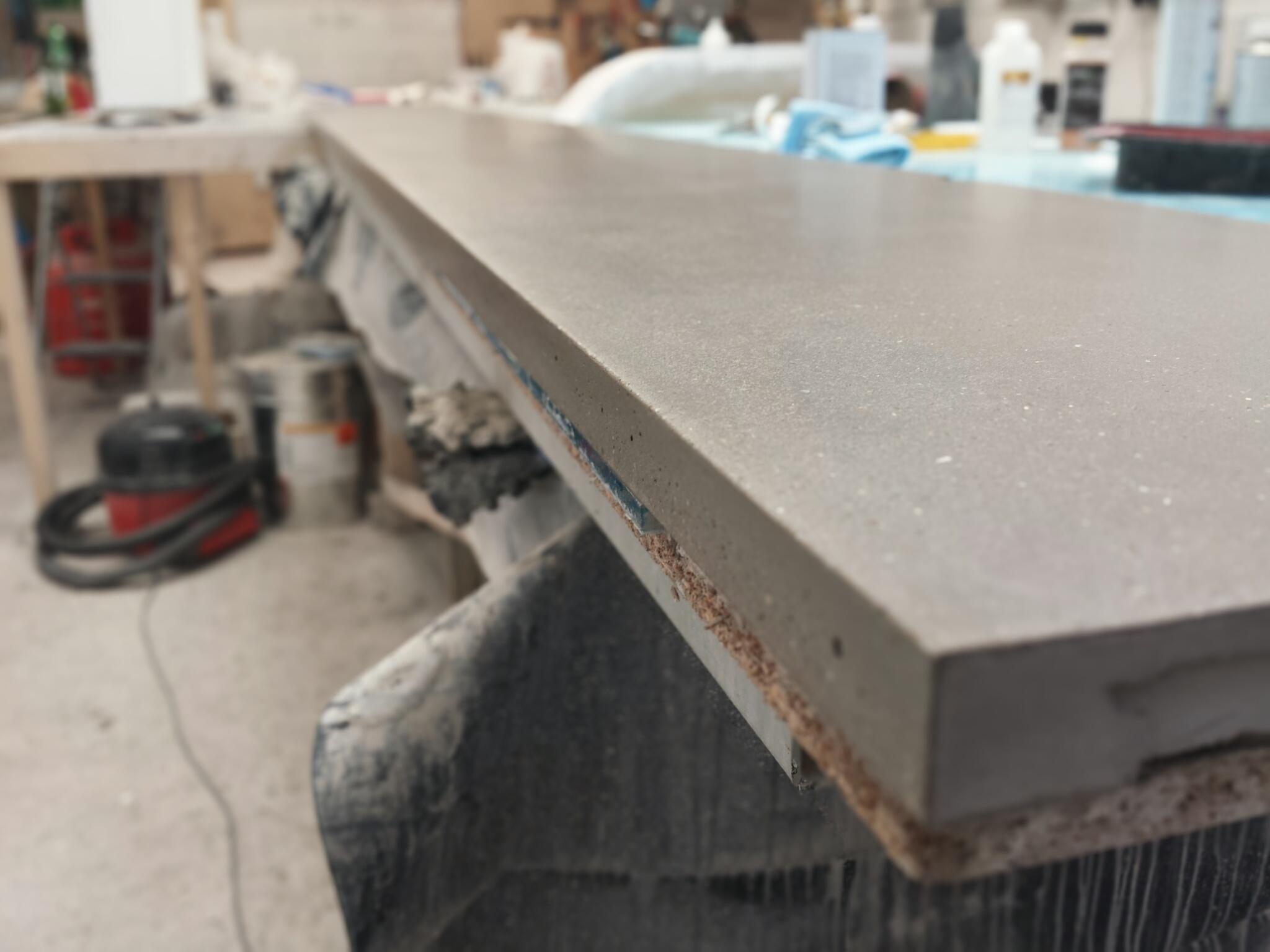 Floating Concrete Hearth Shelf - Concrete Carrot