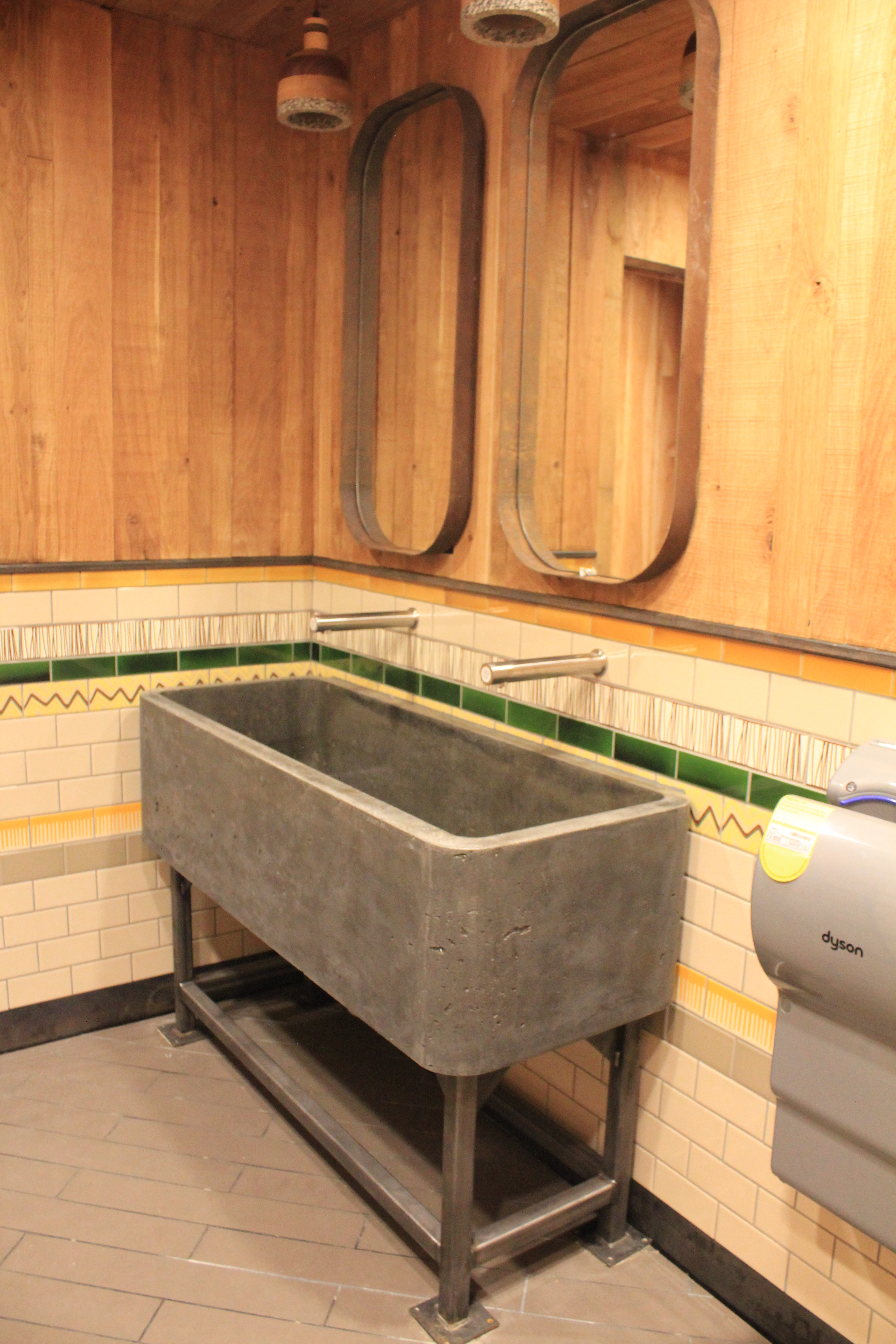 Bespoke Concrete Trough Sink For Nandou0027s In Chesterfield
