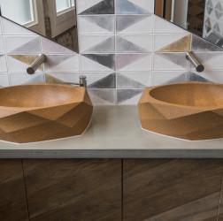 Nando's Altrincham concrete vanity countertop